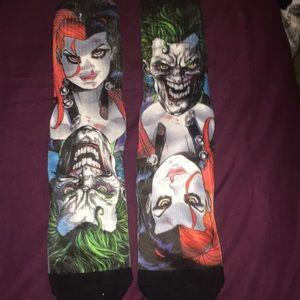 Harley Quinn and joker socks